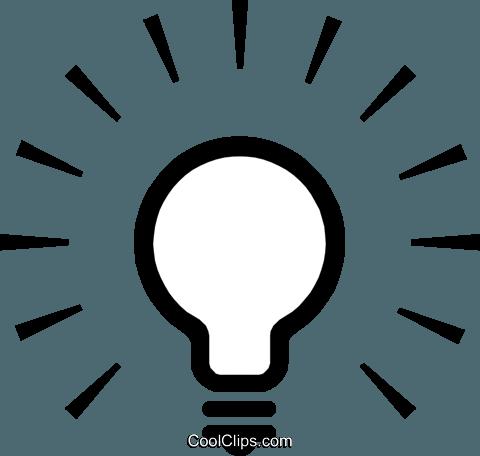 bulbo de luz livre de direitos Vetores Clip Art ilustração.