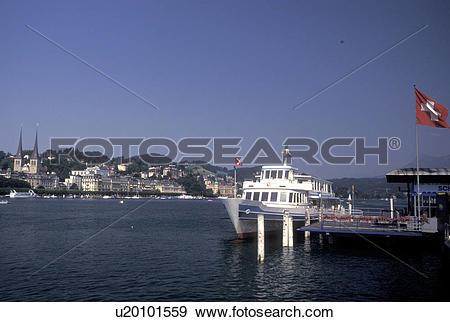 Stock Photograph of Switzerland, Luzern, Lucerne, Europe.