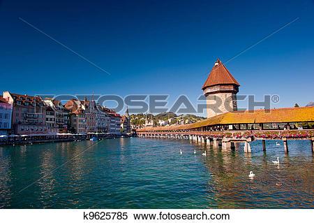 Stock Image of Chapel Bridge, Luzern k9625785.
