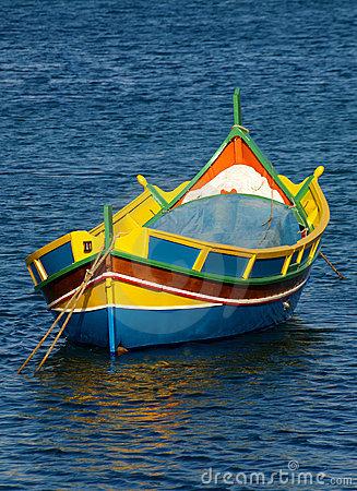 Marsaxlokk Luzzu Boat Royalty Free Stock Photo.