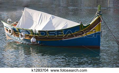 Stock Photo of malta luzzu fishing boat k1283704.