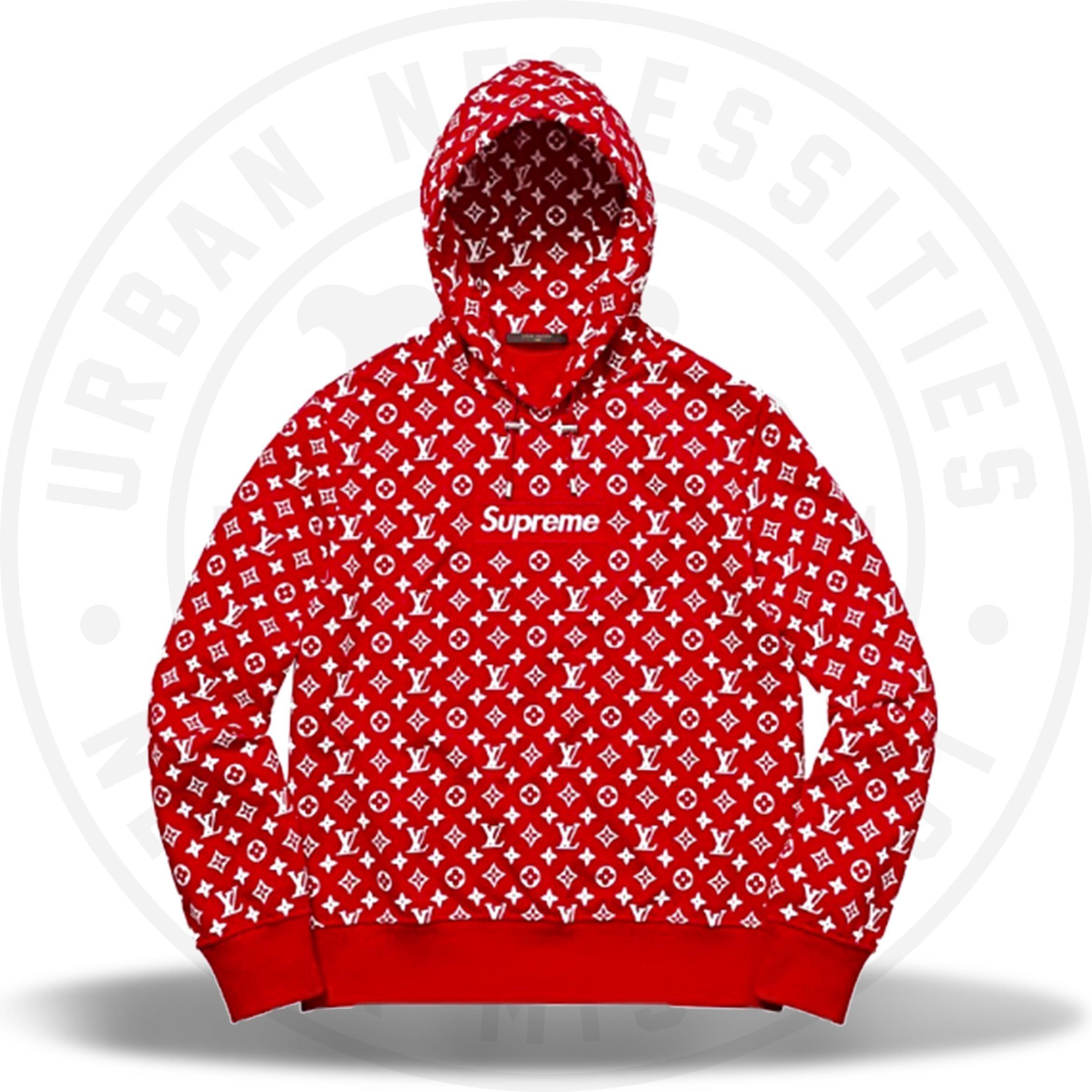 Louis Vuitton Supreme Box Logo Hooded Sweatshirt.