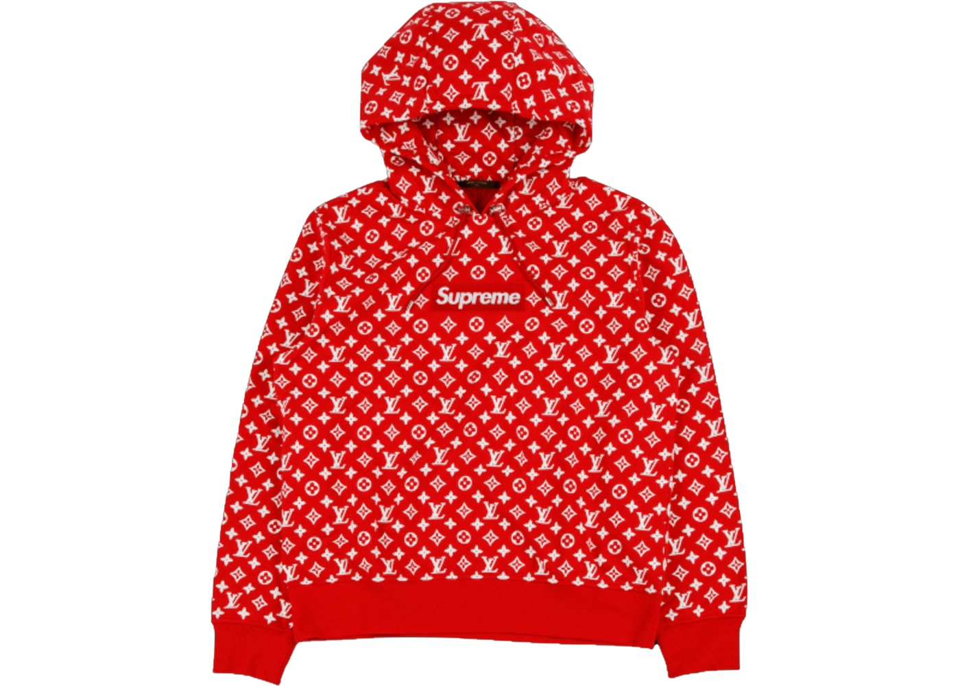 Supreme x Louis Vuitton Box Logo Hooded Sweatshirt Red.