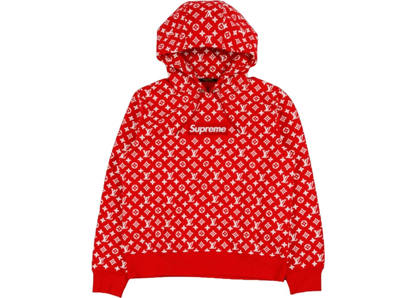 Supreme x Louis Vuitton Box Logo Hooded Sweatshirt Red.