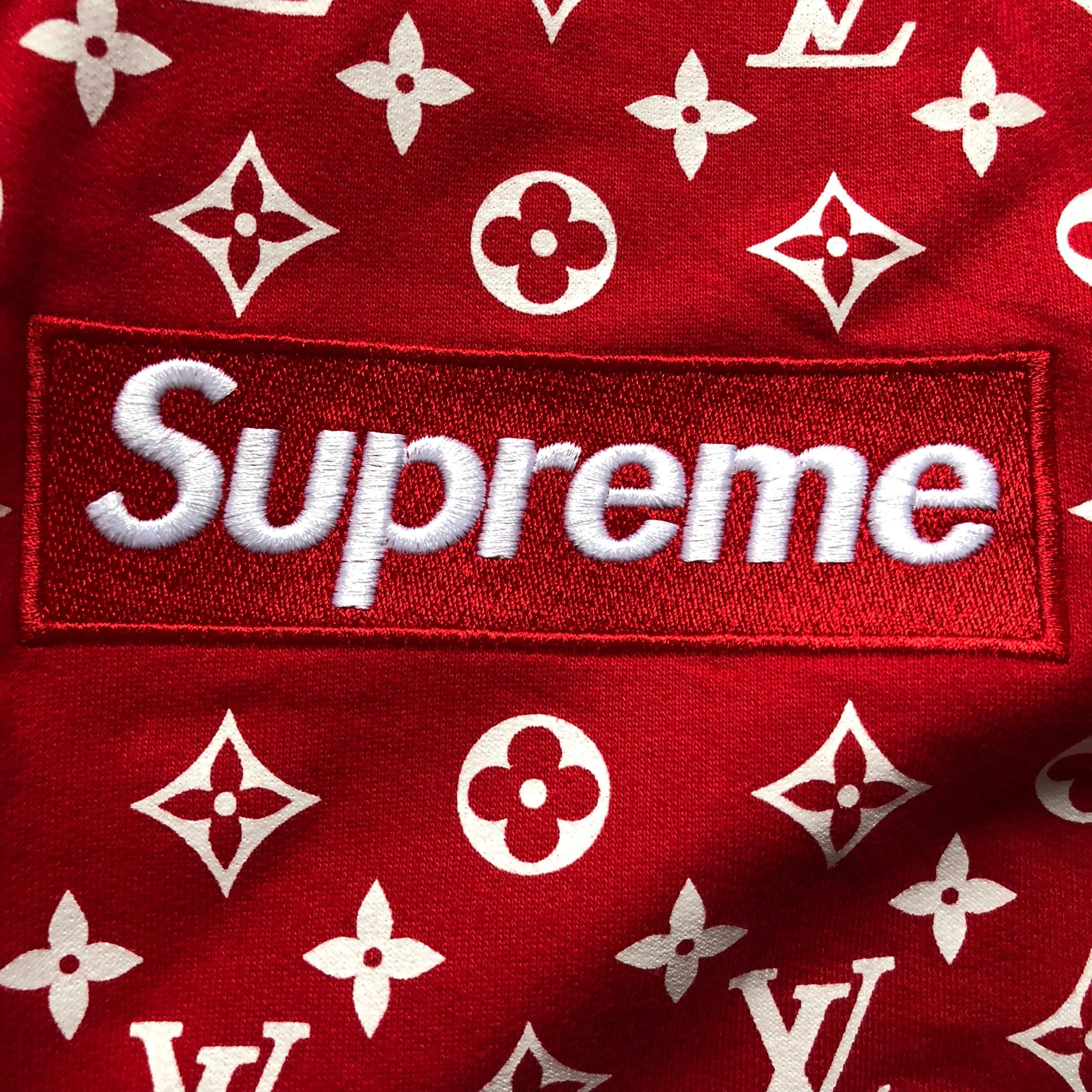 Supreme Lv Box Logo Hoodie.