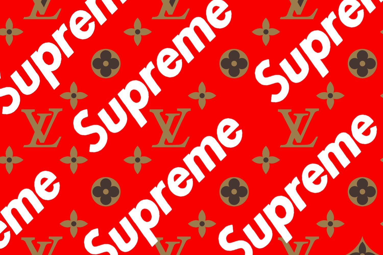 Supreme louis vuitton Logos.