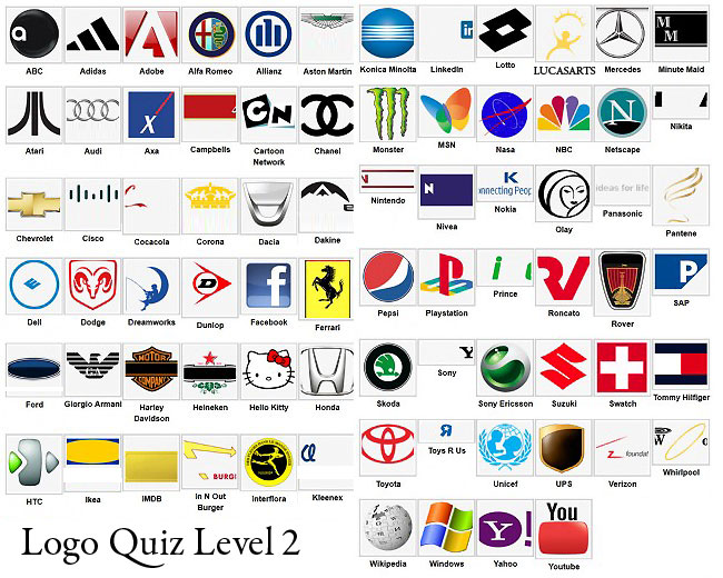 Logo Quiz Answer Level 1 2 3 4 5 6 7 8 9.