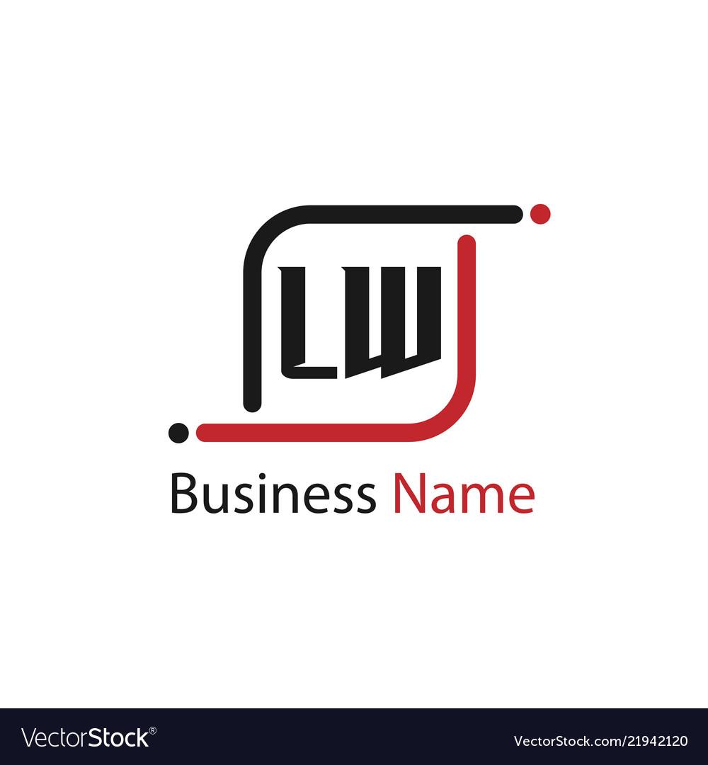 Initial letter lw logo template design.