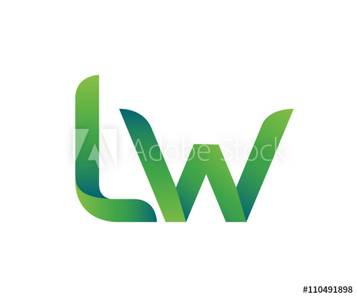 Colorful Letter L W Logo.