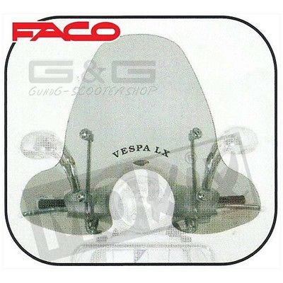 Screen Windscreen Faco Large Version Piaggio Vespa LX 50 125 150.