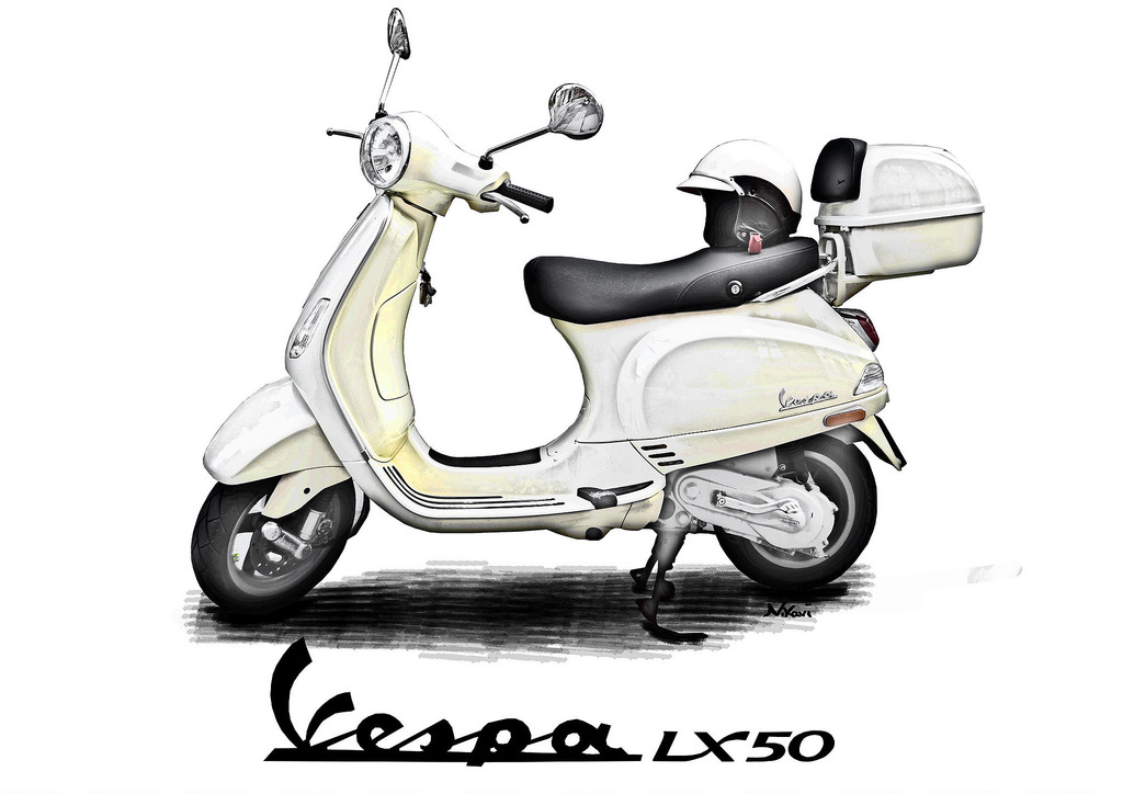 Vespa LX 50 Alabasta.