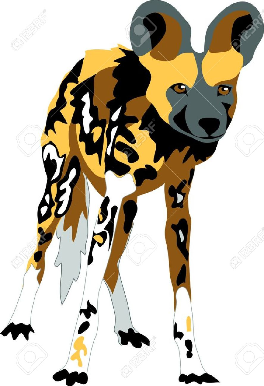 Painted Dog Clipart Clipground