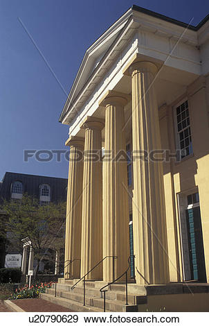 Stock Photograph of Alexandria, VA, Virginia, The Lyceum Museum a.