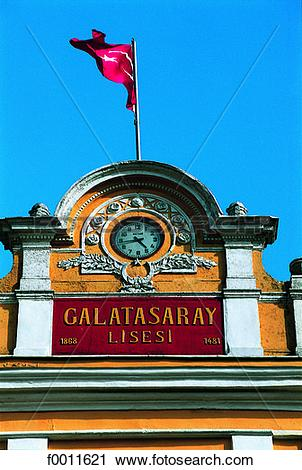 Stock Photography of Turkey, Istanbul, Galatasaray lyceum, french.