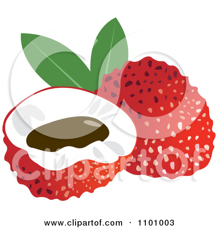 Clipart of a Lychee Fruit.
