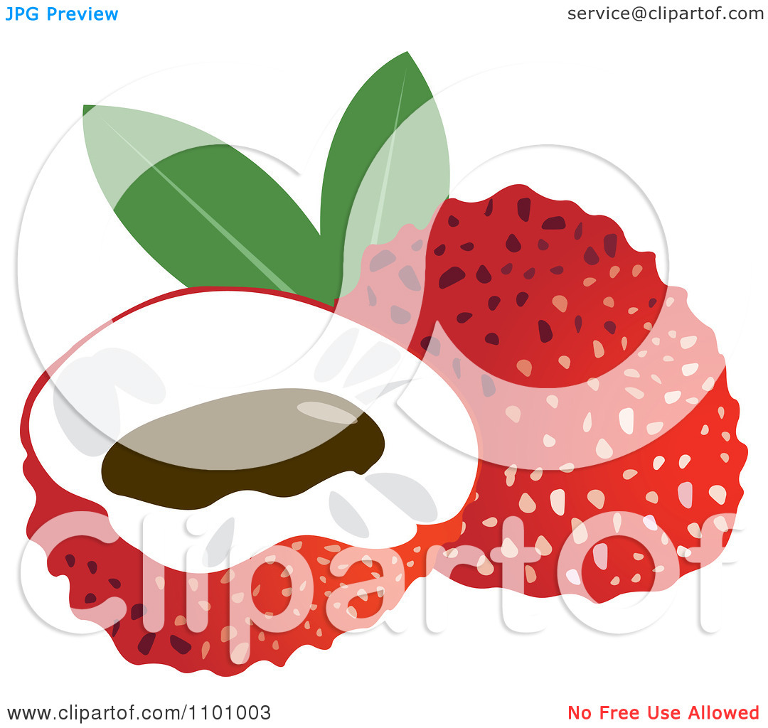 Lychee clipart.