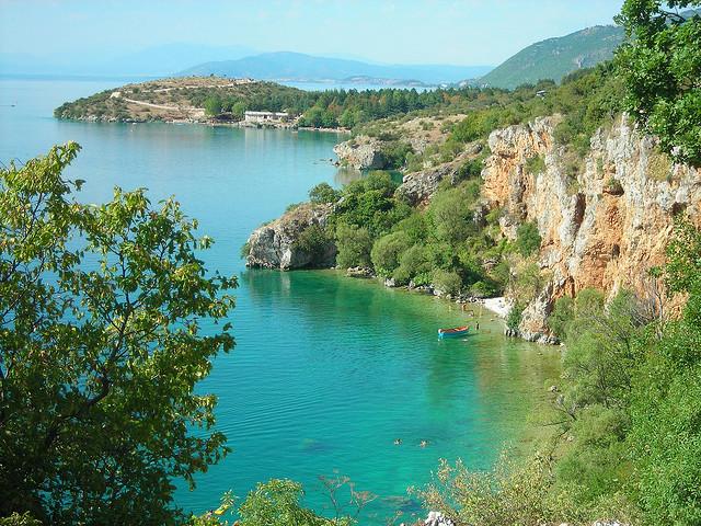 Lake Ohrid, Macedonia Ohrid's lake, Macedonia. Ohrid and Lake.