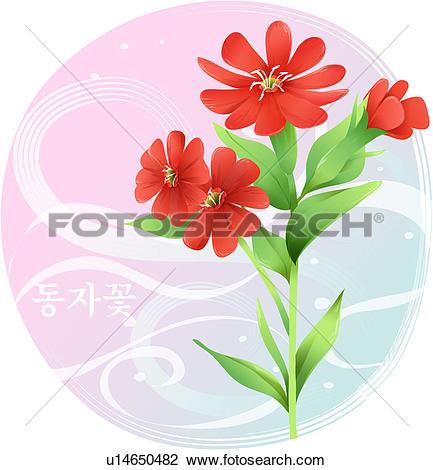 Clipart of flowers, lychnis cognata maxim, flower, plants, plant.