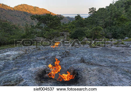 Picture of Turkey, Lycia, Eternal flames at Mount Chimaera.