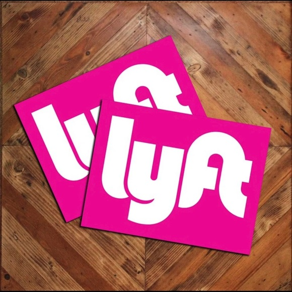 Pair Of Lyft Logo Pink Car Door Magnets Signs 9x12 NWT.