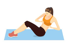 Side Abdominal Exercises With Lying Side Hip Raises Stock Vector.