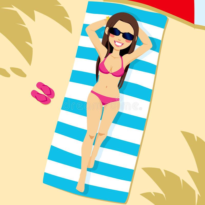 Lying Beach Stock Illustrations.