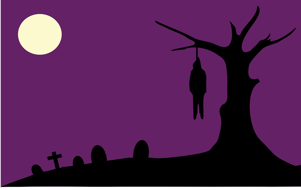 Free vector graphic: Hanging, Lynch, Lynching, Graveyard.
