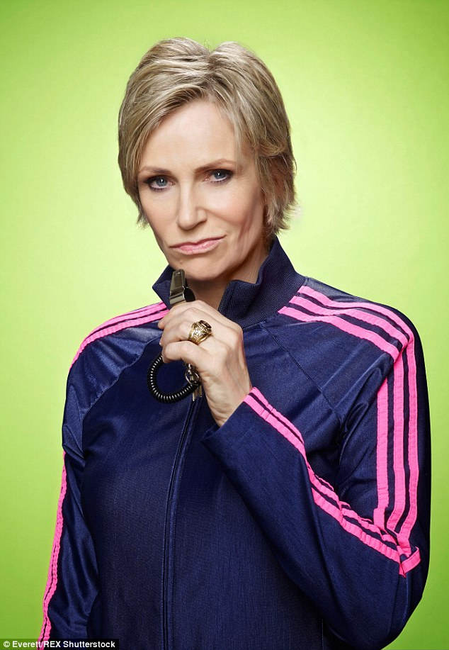 Clipart jane lynch wins emmy for glee character.