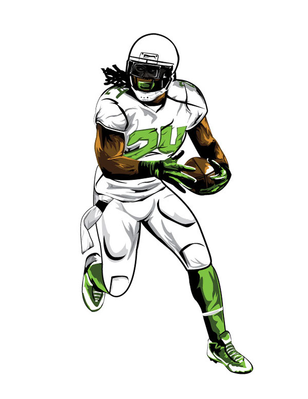Marshawn Lynch Football Player Clip Art.