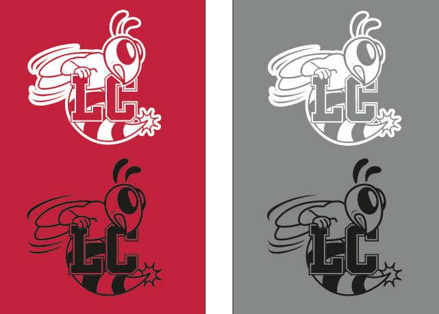 Lynchburg College Hornet logos.