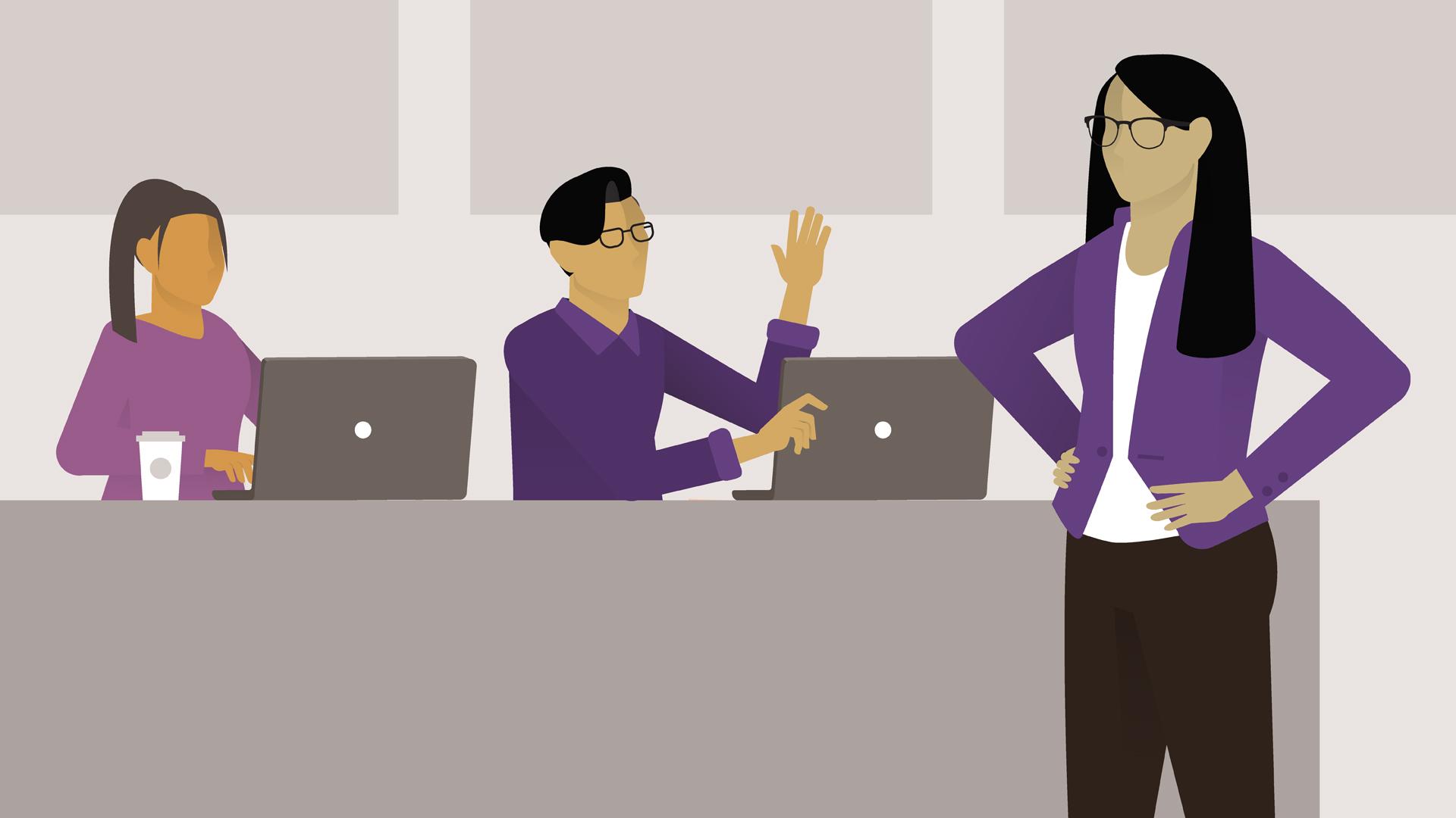 Managing a Customer Service Team.