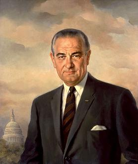 Clipart of President Lyndon B. Johnson.
