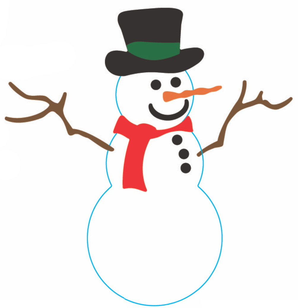 Frosty The Snowman C140 Cheery Lynn Designs Clipart.