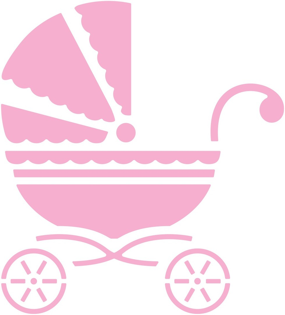 Cheery Lynn Designs Baby Carriage Clipart.