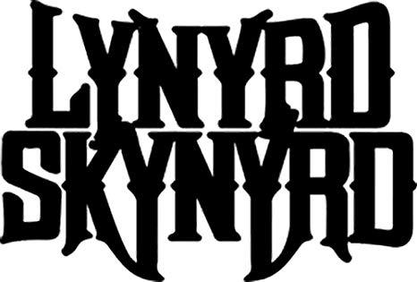 Lynyrd Skynyrd Black Logo Rub.