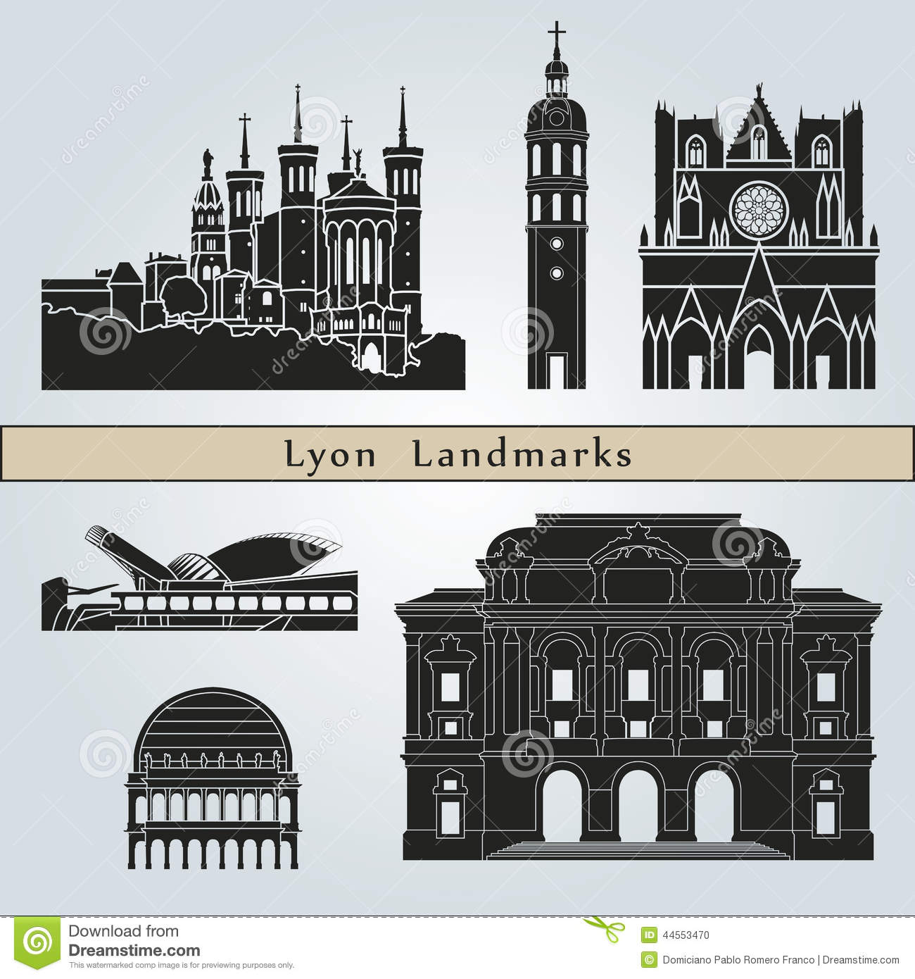Lyon Stock Illustrations.