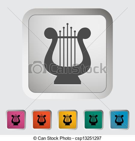EPS Vectors of Lyra. Single icon. Vector illustration. csp13251297.