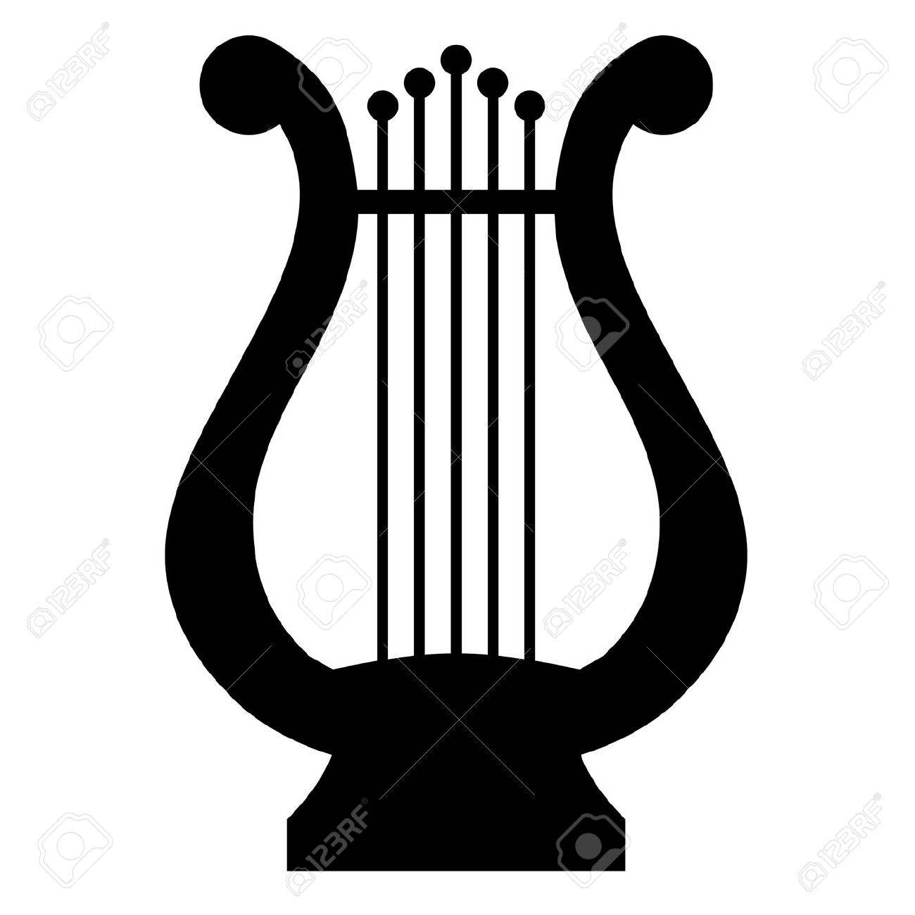 Illustration Of Lyre Royalty Free Cliparts, Vectors, And Stock.