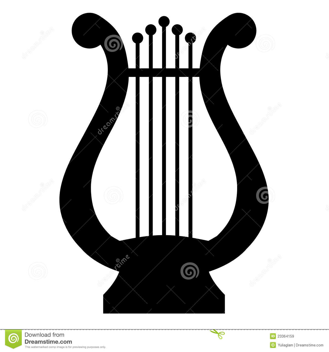 Music lyre clipart.