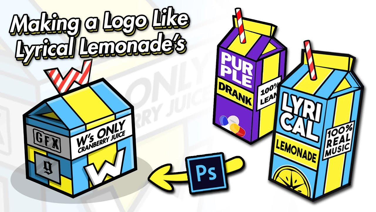 How to make a Logo like LYRICAL LEMONADE in Photoshop / @_.