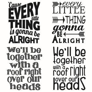 Bob Marley Music Songs Lyrics Quote Cuttable Design Cut File.