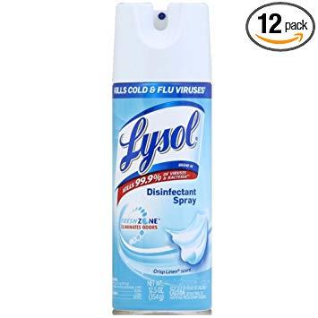 Amazon.com: Lysol Disinfectant Spray, Crisp Linen, 150oz.
