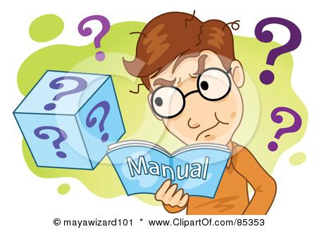 Training Manual Clipart.