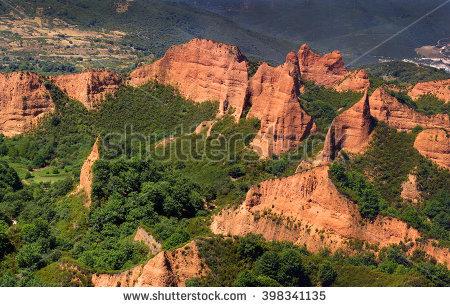 Las Medulas Red Mountains Leon Spain Stock Photo 64082740.