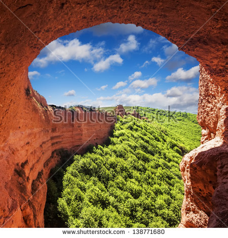 Las Medulas Ancient Roman Mines Unesco Stock Photo 110749091.