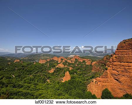 Stock Photo of Spain, Castile and Leon, Las Medulas, View to Mina.