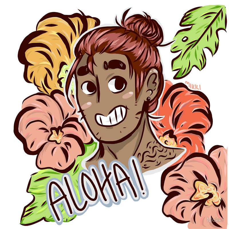 Aloha! Hawaiian guy drawing design thing!!1!