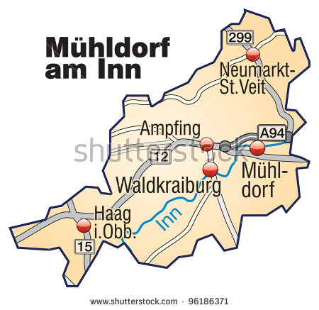 County Muhldorf Am Inn, Bavaria, Germany Stock Photo 96186371.