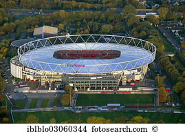 Boellenfalltor stadium darmstadt germany aerial photo Stock Photo.