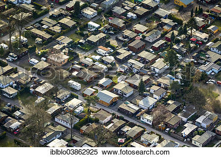 """Stock Image of """"Aerial view, camping ground on the Entenfang."""